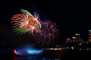 New Years Eve Fireworks over Niagara Falls