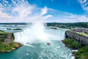 Spring in Niagara Falls featuring Hornblower boat ride