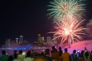 Nightly Summer Niagara Falls Fireworks